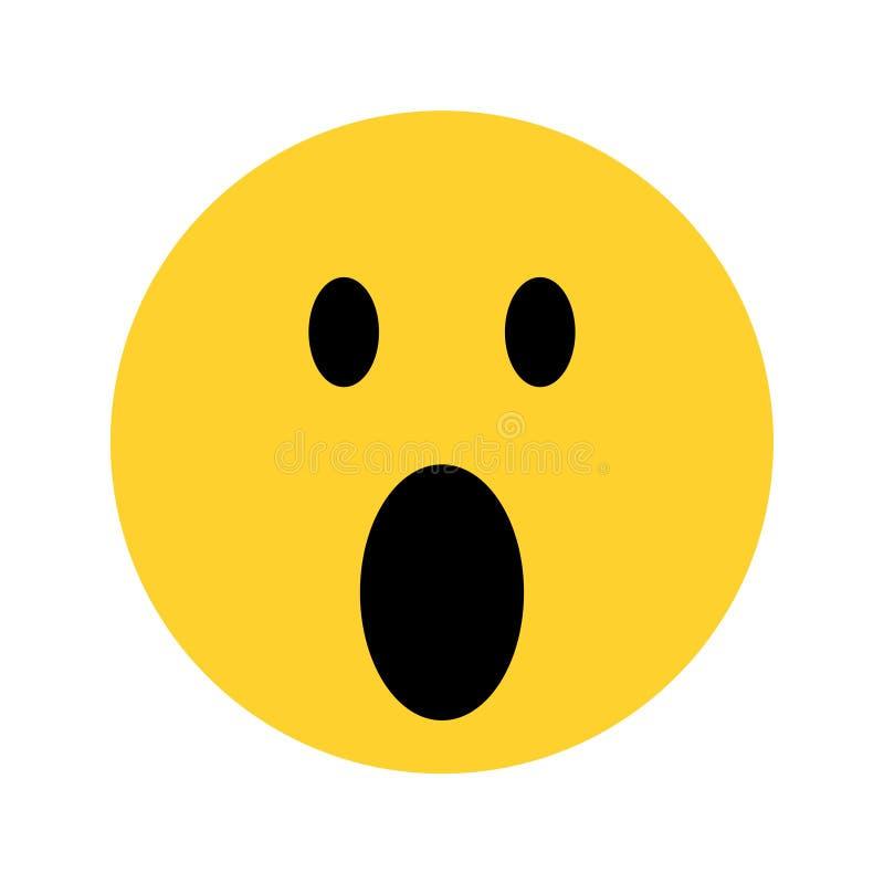 Gelbes emoji Gesicht des smiley auf weißem Hintergrund vektor abbildung