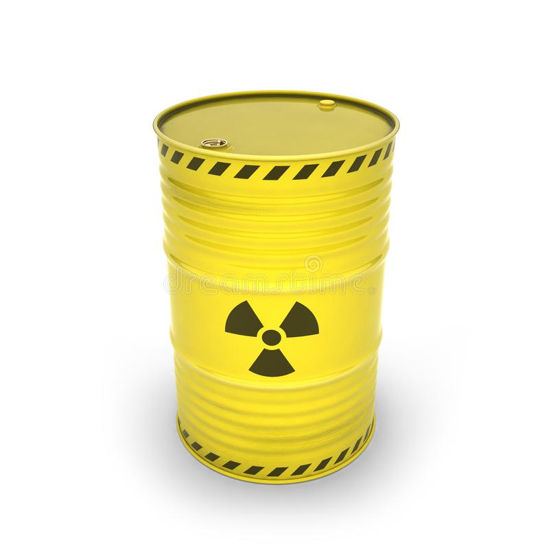 Gelbes Fass mit radioaktiven Materialien vektor abbildung