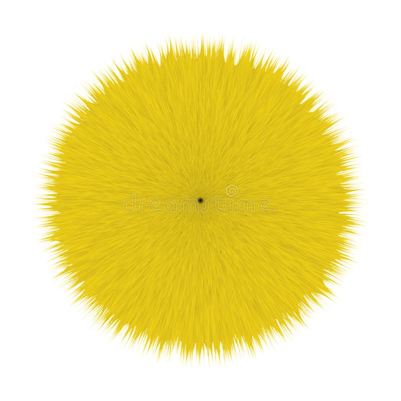 Gelbes flaumiges Haar Pom lizenzfreie abbildung