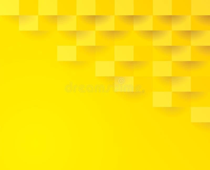 Gelbes geometrisches Muster, abstrakte Hintergrundschablone vektor abbildung