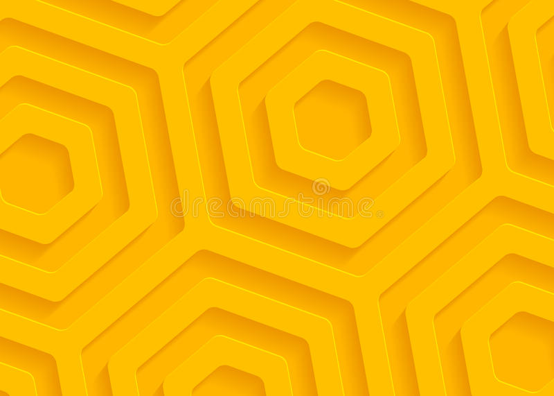 Gelbes geometrisches Papiermuster, abstrakte Hintergrundschablone für Website, Fahne, Visitenkarte, Einladung vektor abbildung