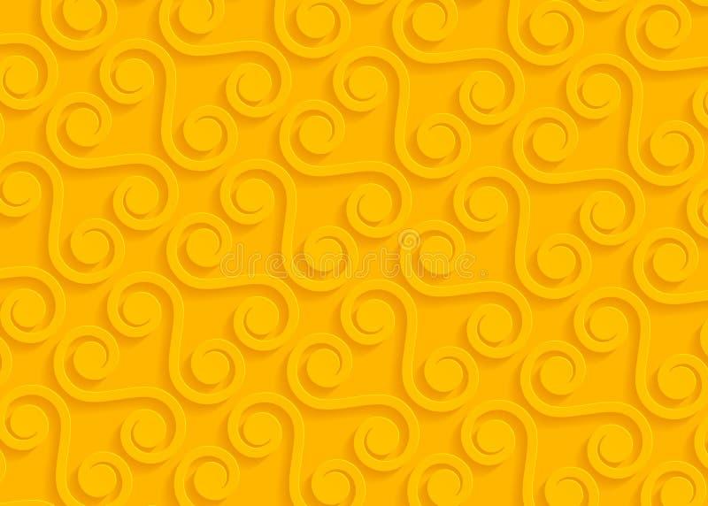 Gelbes geometrisches Papiermuster, abstrakte Hintergrundschablone für Website, Fahne, Visitenkarte, Einladung lizenzfreie abbildung