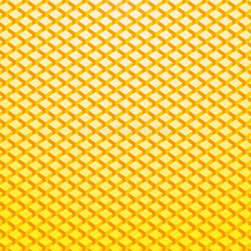 Gelbes Goldziegelsteinhintergrund stock abbildung