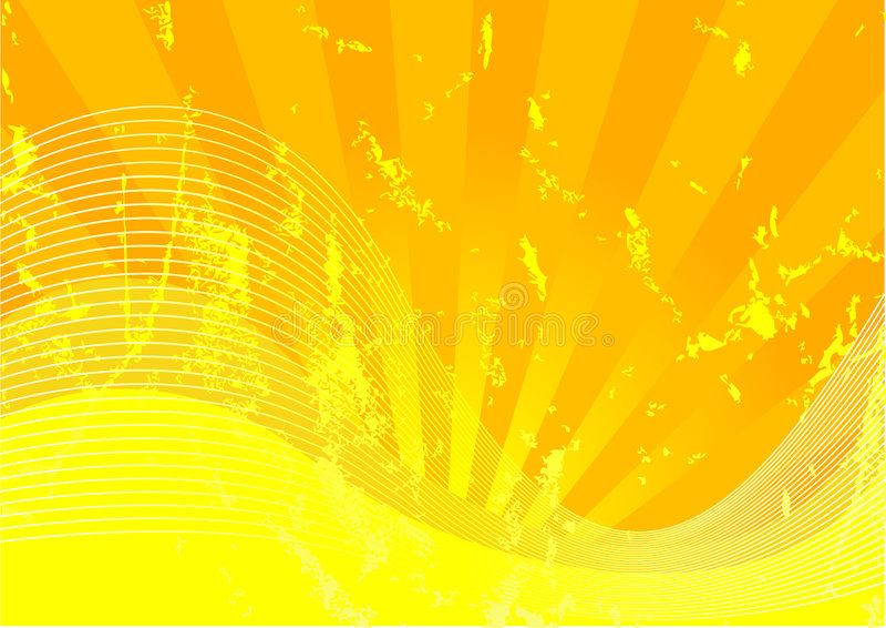 Gelbes grunge lizenzfreie abbildung