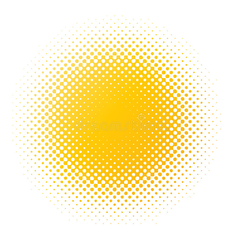 Gelbes Halbtonunschärfe stock abbildung