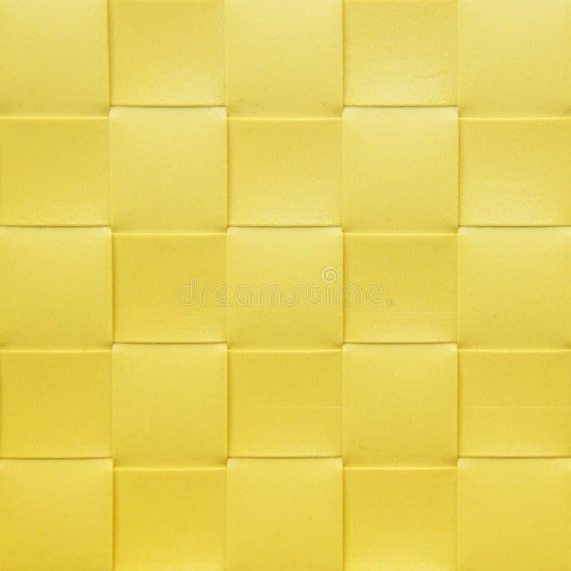 Gelbes kariertes Placemat, Beschaffenheit stockbilder