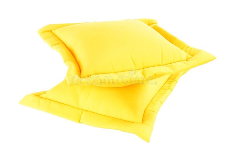 Gelbes Kissen stockbilder