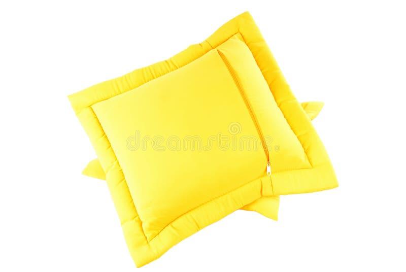 Gelbes Kissen lizenzfreie stockfotos