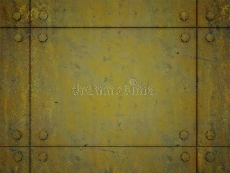 Gelbes Metallplatten vektor abbildung