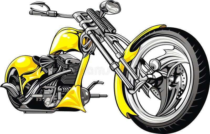 Gelbes Motorrad vektor abbildung