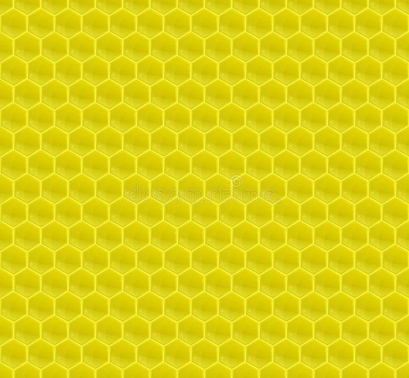 Gelbes Muster-Hexagon-Mosaik stock abbildung