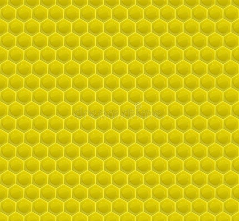 Gelbes Muster-Hexagon-Mosaik lizenzfreie abbildung