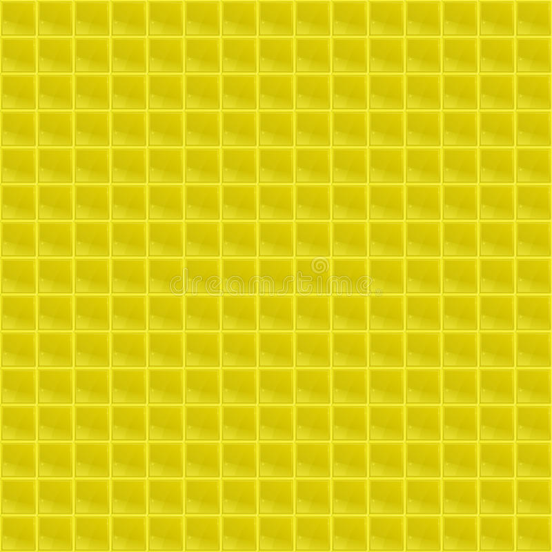 Gelbes Muster-vierflächiges Mosaik stock abbildung