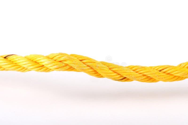 Gelbes Netzkabel lizenzfreies stockbild