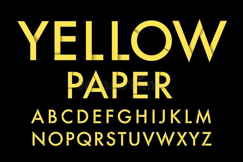 Gelbes Papier stock abbildung