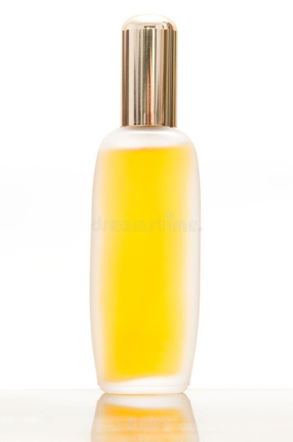 Gelbes Parfüm stockbild