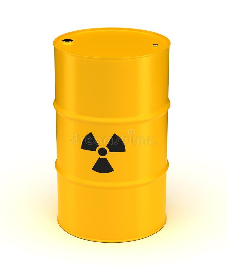 Gelbes radioaktiver Abfall-Fass vektor abbildung