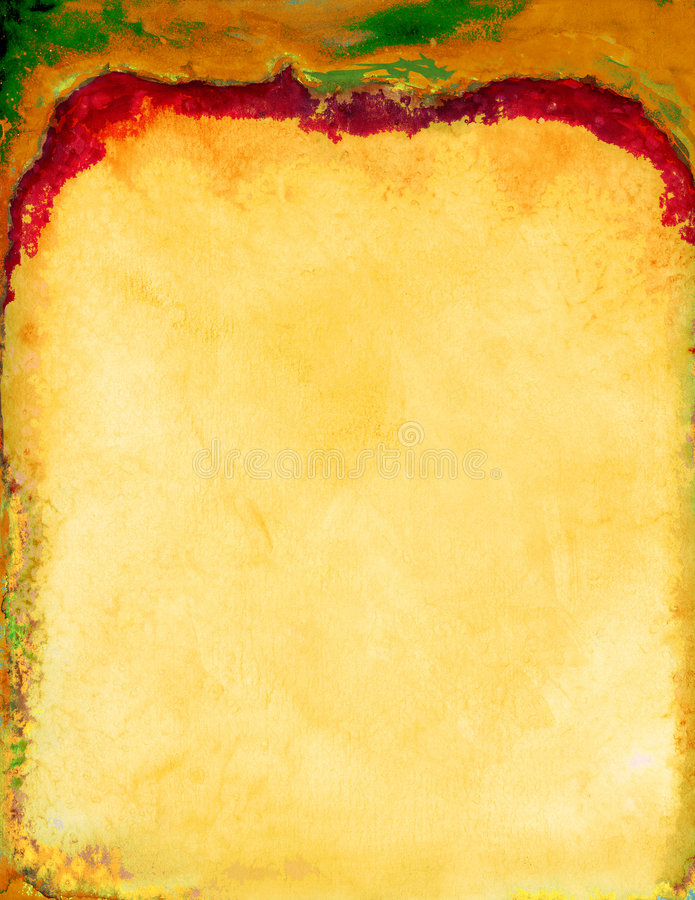 Gelbes rotes Briefpapier lizenzfreie abbildung