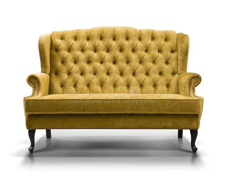 gelbes sofa stock abbildung illustration von luxuri s 65247510. Black Bedroom Furniture Sets. Home Design Ideas