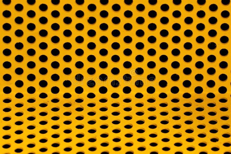 Gelbes Stahlrasterfeld lizenzfreie stockfotos
