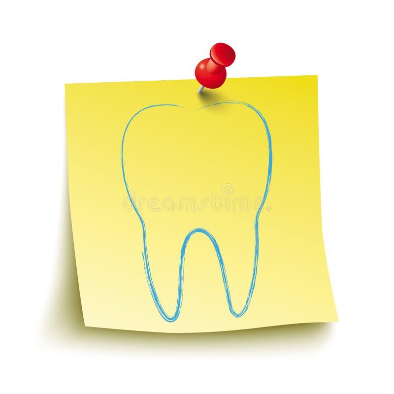 Gelbes Stock-Rot Pin Tooth lizenzfreie abbildung