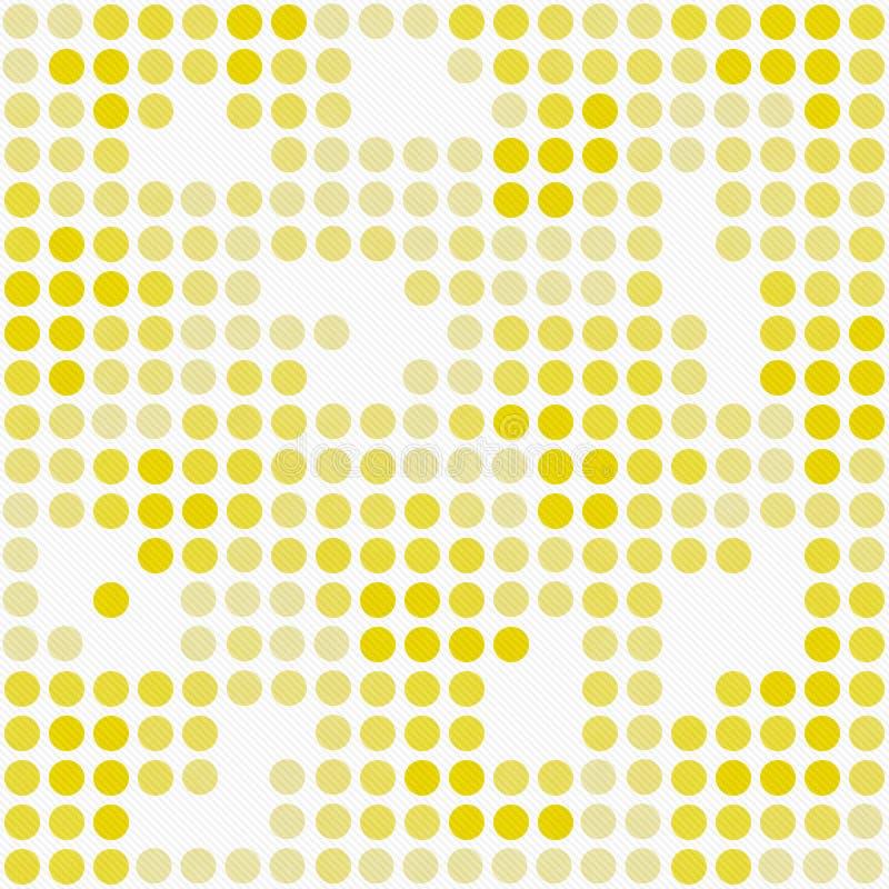 Gelbes und weißes Polka-Dot Mosaic Abstract Design Tile-Muster R lizenzfreie abbildung