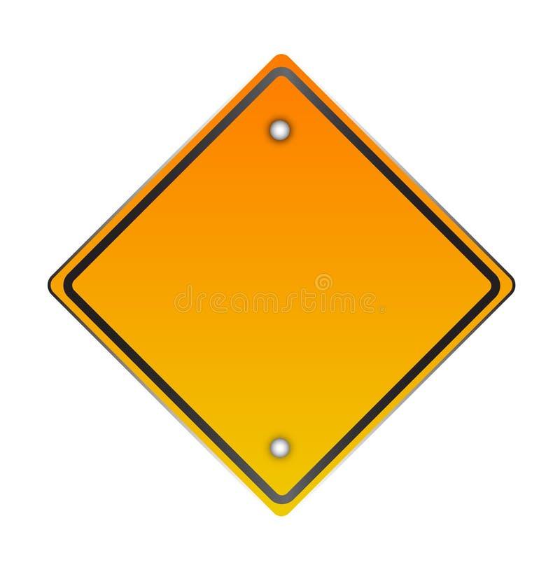 Gelbes Verkehrsschild stockfoto