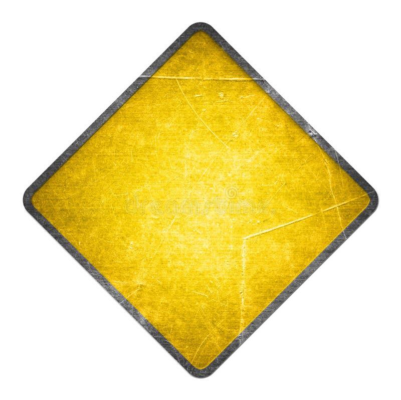 Gelbes Verkehrsschild vektor abbildung