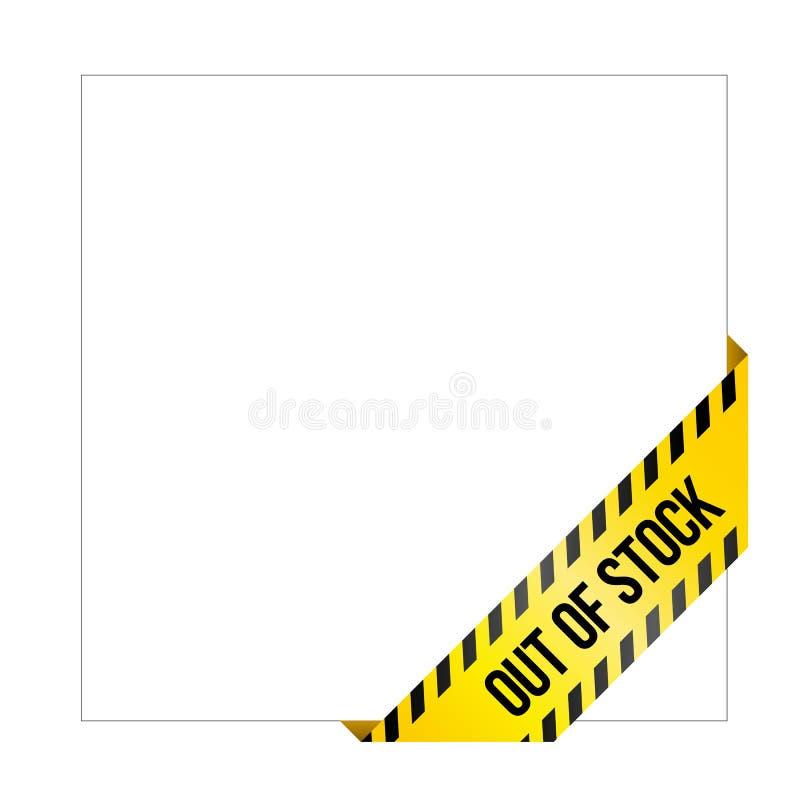 Gelbes Vorsichtband mit Wörter ` vergriffenem ` vektor abbildung