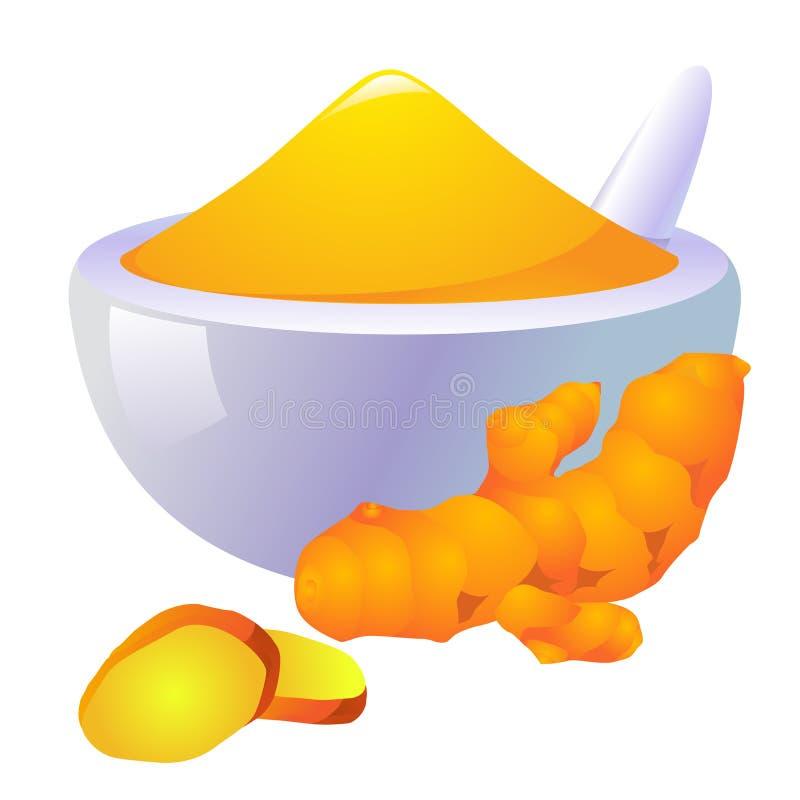 Gelbwurz-Ikone stock abbildung