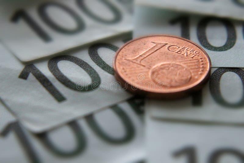Geld één centeuro royalty-vrije stock foto's