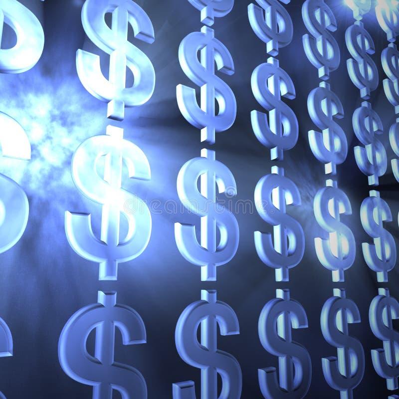 Geld absrtact royalty-vrije illustratie