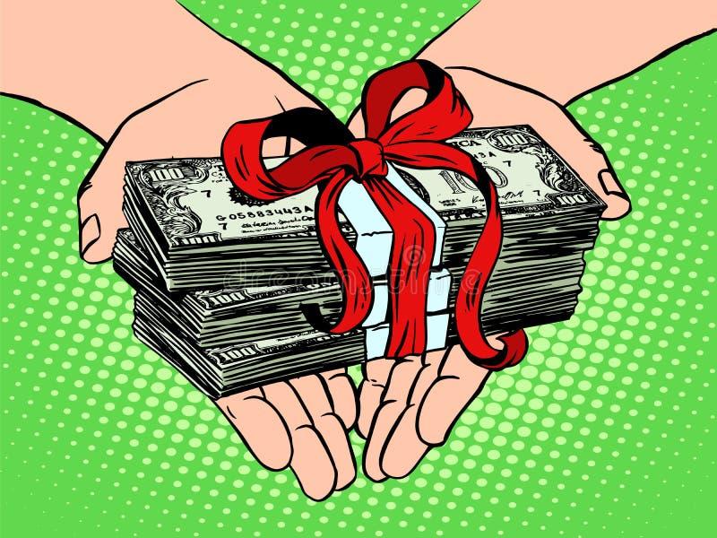 Geld als gift Financieel inkomen stock illustratie