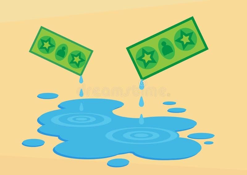 Geld als Wasser vektor abbildung