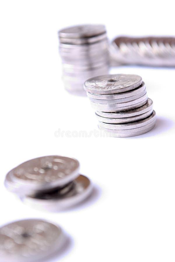 Geld auf Weiß stockfotos