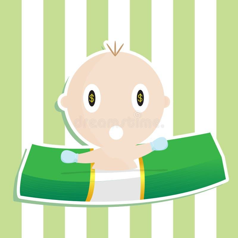 Geld-Baby stockfotografie