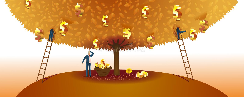 Geld-Baum stock abbildung