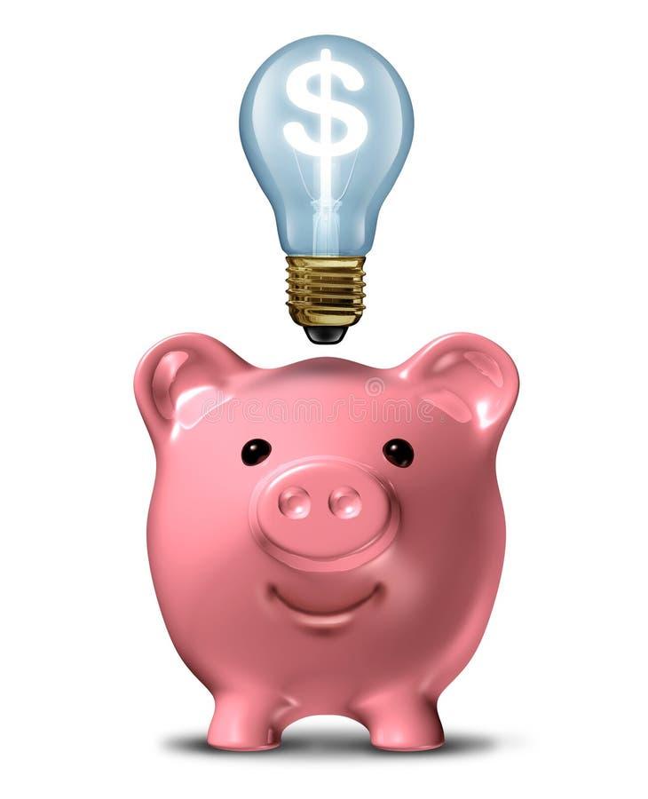Geld-besparing-ideeën vector illustratie