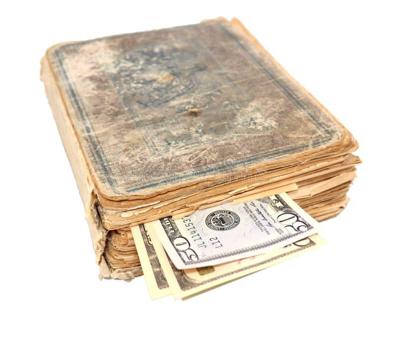 Geld binnen het boek royalty-vrije stock foto's
