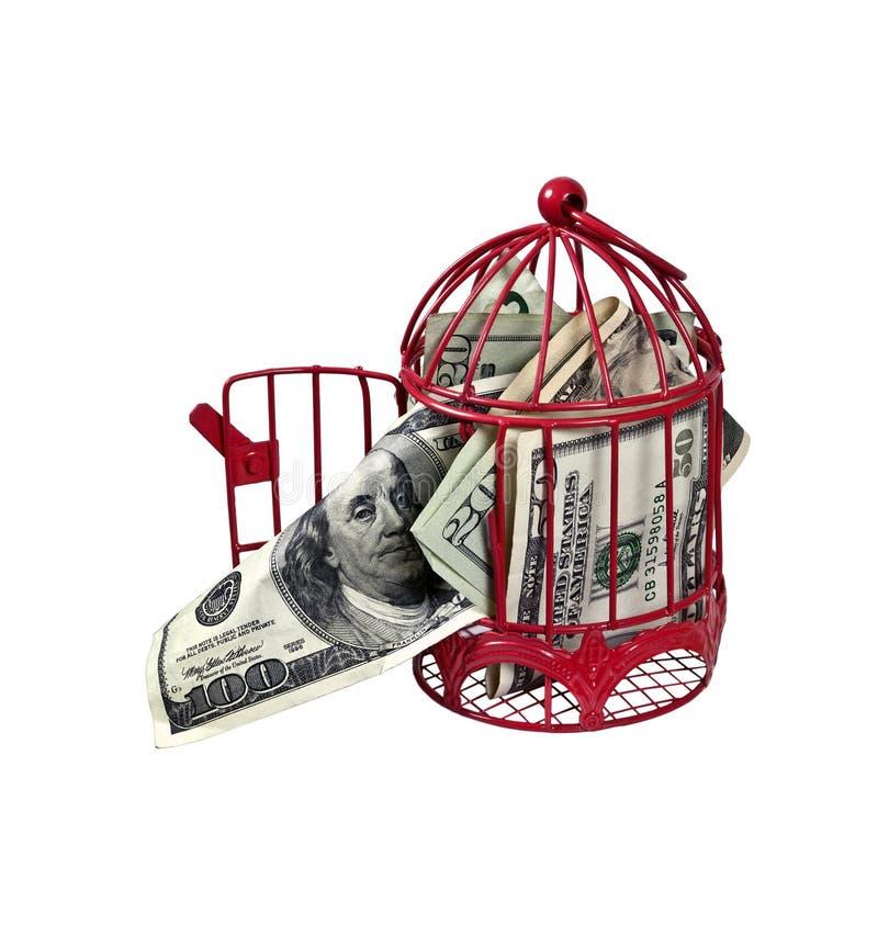Geld dat de Kippenren vliegt royalty-vrije stock afbeelding