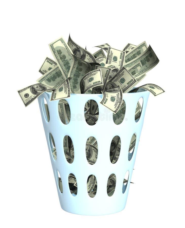 Geld in de bak vector illustratie