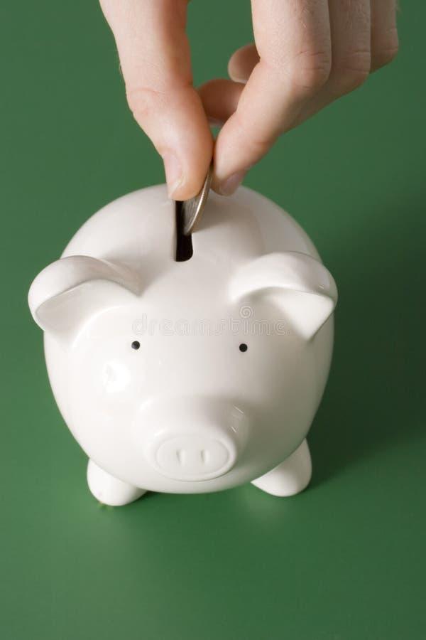 Geld in de bank royalty-vrije stock afbeeldingen
