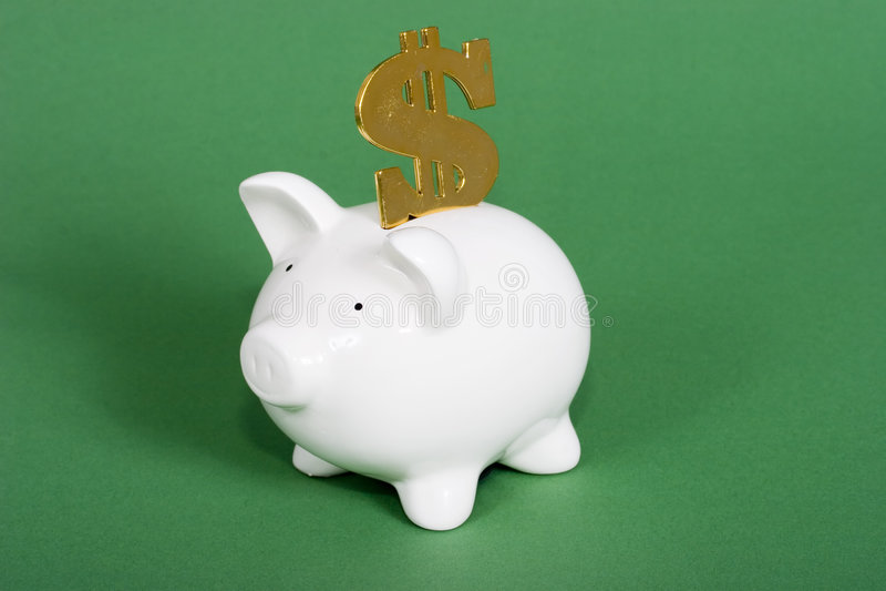 Geld in de bank stock afbeeldingen