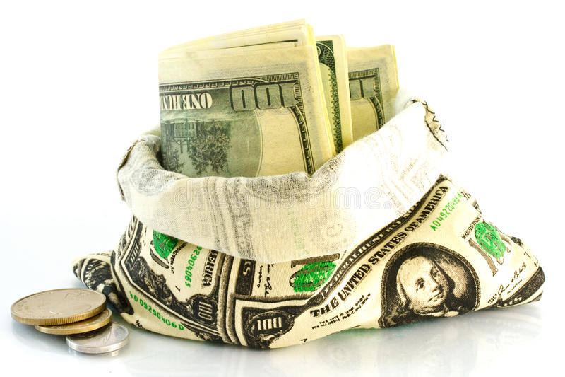 Geld in de zak stock afbeeldingen