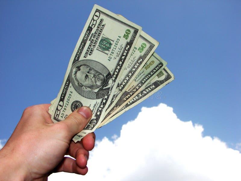 Geld in der Hand stockfotos