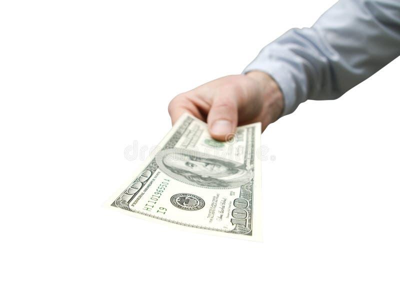 Geld in der Hand lizenzfreies stockbild
