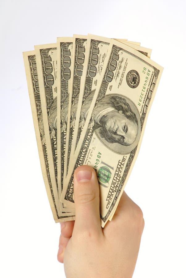 Geld in der Hand, nah oben lizenzfreie stockbilder