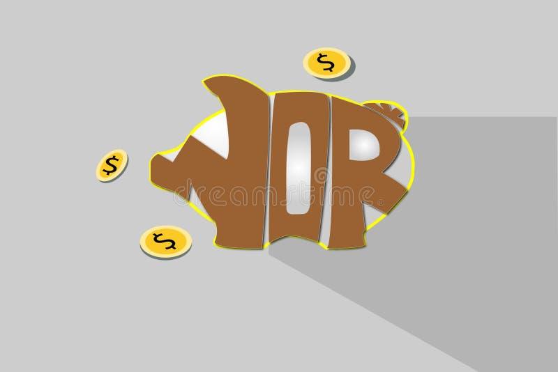 Geld in der piggy Querneigung stockbilder