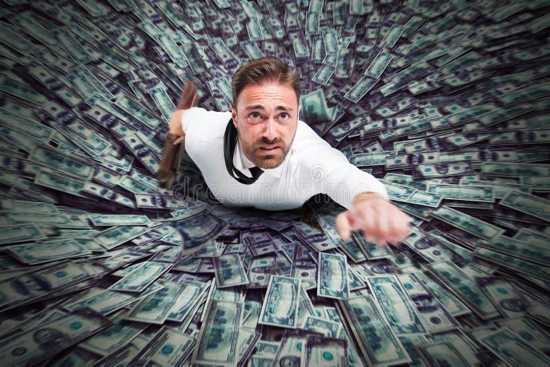 Geld des schwarzen Lochs lizenzfreies stockfoto