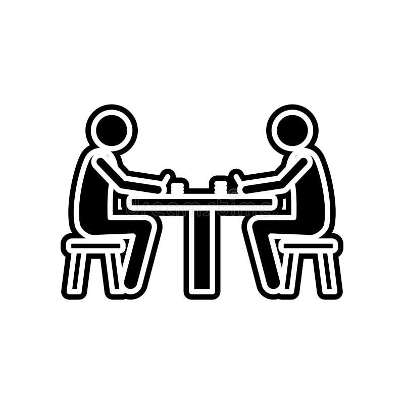 Geld des Spiels zwei auf Kartenikone Element des Kasinos f?r bewegliches Konzept und Netz Appsikone Glyph, flache Ikone f?r Websi vektor abbildung